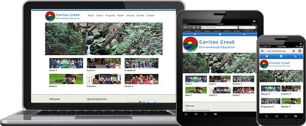 Caritas Creek responsive website design