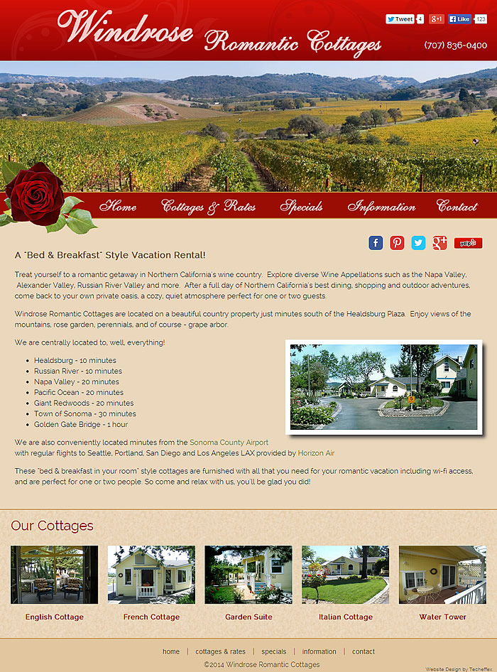 Windrose Romantic Cottages