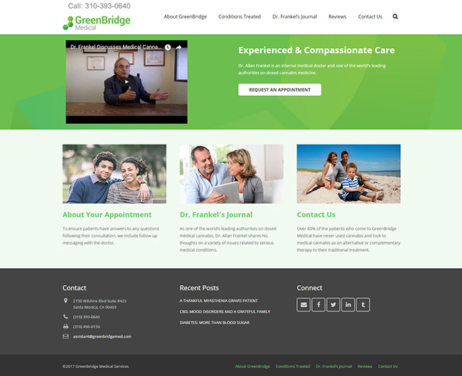 Web Design - GreenBridge Medical