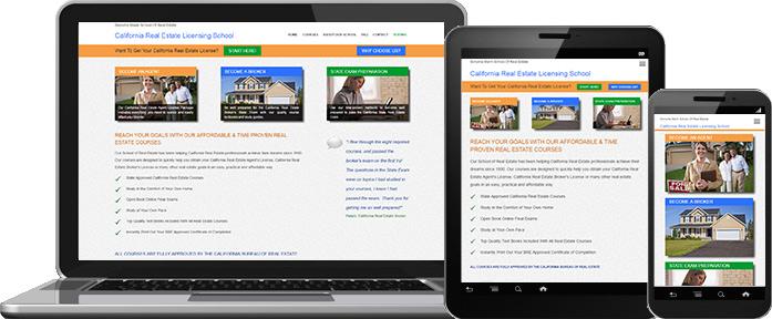 Mobile Website Design - Californai Real Estate Licensing School