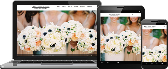 Mobile Web Design - Wine Country Flowers