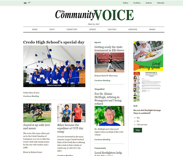 Web Design - Community Voice