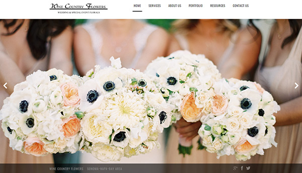 Website Design - Wine Country Flowers