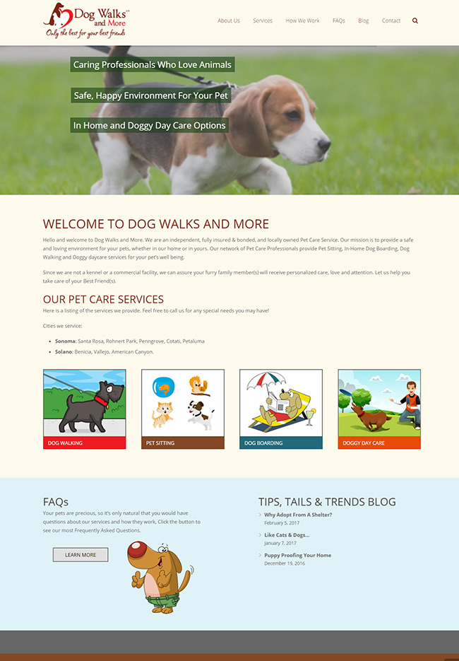 Website Design - Dog Walks and More
