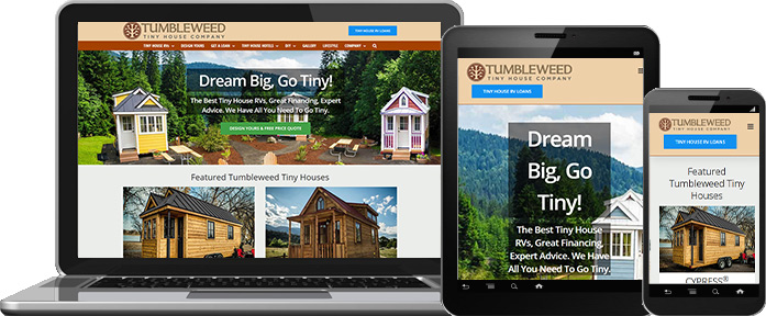 Mobile Website Design - Tumbleweed Tiny House