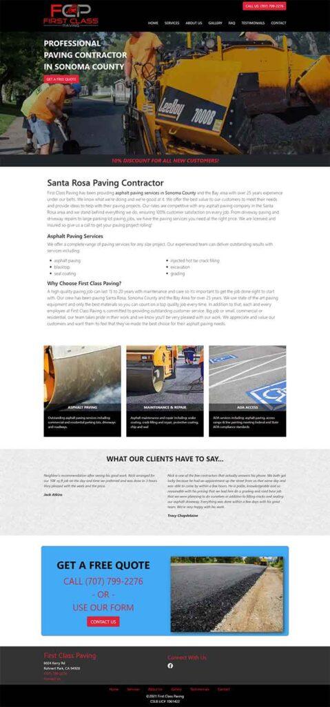 Fisrt Class Paving Homepage