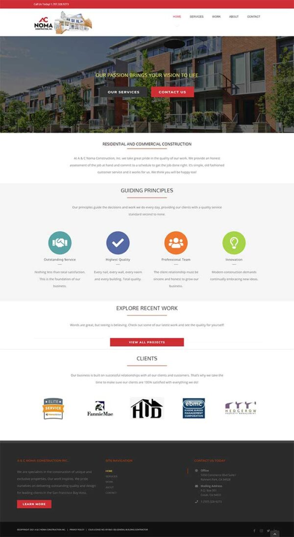 AC Noma Construction Home Page